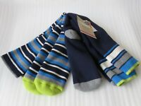 NEW M&S Kids 2 Pairs Boys Blue Striped Thermal Max Warm Socks Shoe Size 4-7 Xmas