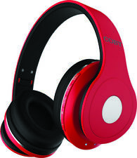 COBY CHBT-709-RED Red Studio Bluetooth Stereo Headphones