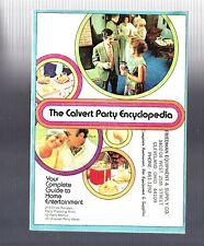 Vintage collectible 1960s Calvert Party Encyclopedia cocktail recipe booklet