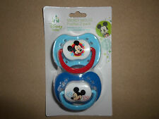 Non-Toxic BPA Free Blue Disney Mickey Mouse 2 Pack Pacifier Set, NEW IN PACKAGE!