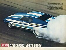 1971 Great Magazine Pic of Jerry the King Ruth Racing Ford Mustang Funny Car.