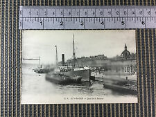merchant vessel steam ship Sandhurst 1891 Rouen picture postcard c 1908