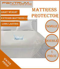 Waterproof Mattress Protector Non-Allergenic Fitted Sheet Bed Cover Single Doubl