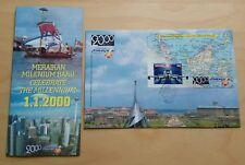 2000 Malaysia Millennium Aeroplane Maps MS FDC (Melaka Cachet)