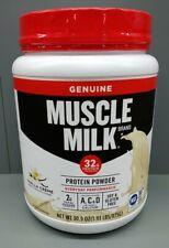 Muscle Milk Genuine Protein Powder Vanilla Creme 32g Protein, 1.9lb, 30.9 oz