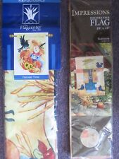 Autumn/Fall Scarecrow Large Decorative Flag -Choose 1
