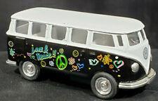 KINSMART VOLKWAGEN CLASSICAL BUS 1962 MODEL - PEACE & LOVE MINIBUS VINTAGE RARE
