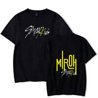 KPOP Stray Kids New Album MIROH Unisex T-shirt Short Sleeve Tops 9 Size   F3201