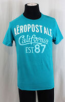 Aeropostale AERO Mens GraphicTeal Blue Tee Printed T-Shirt New NWT S Small