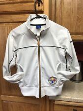 Reebok NFL Pittsburgh Steelers Logo Full Zip White Track Jacket Ladies Sz S 87452432d