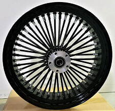 "FAT SPOKE 18"" REAR WHEEL 180-200mm BLACK HARLEY CUSTOM SOFTAIL RIGID CHOPPER"