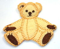 CUTE TEDDY BEAR SEATED  Embroidered Iron Sew On Cloth Patch Badge APPLIQUE
