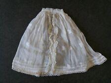 Antique Edwardian dolls skirt cotton lace 1900s 1910 dress Steiner Jumeau doll