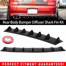 Car Rear Body Bumper Lip Diffuser Shark Fin 7 Spoiler Wing Chassis ABS 33'X6''