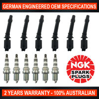 6x Genuine NGK Iridium Spark Plugs & 6x Ignition Coils for Ford Falcon BF FPV BF