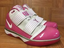 reputable site f2ab4 99b31 RARE🔥 Nike Zoom LeBron Soldier 3 Player Exclusive Cancer Awareness Patent  Pink