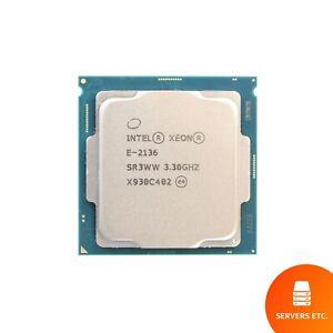 INTEL XEON E-2136 CPU PROCESSOR 6 CORE 3.30GHZ 12MB L3 CACHE 80W SR3WW
