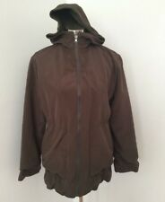 Hilary Radley Studio Design XS Jacket Coat Brown Reversible Wool Rain Hooded