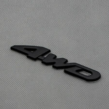 Car Body 4WD Off Road Matte Black Emblem All Wheel Drive Rear Trunk Badge Decal