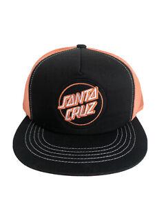 Santa Cruz Cap BNWOT Black Orange Patch Logo Skateboard Xmas Stocking Filler