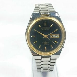 Vintage CTZ Automatic Movement Analog Day Date Dial Mens Wrist Watch F90