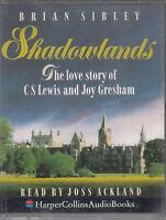 Brian Sibley Shadowlands 2 Cassette Audio Book CS Lewis Love Story Abridged