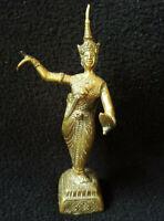 Bronze ancien Shiva dansant déesse Inde vishnou trinité hindou 11,5cm artisanat