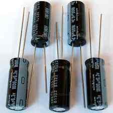 5x Nichicon HM 1800uF 6.3v Narrow 8mm Low-ESR radial Capacitors caps 105C 8x20