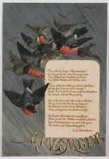 """November"" by Seyfried, oil on paper, 1883"