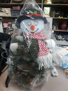 "Avon Animated 18"" Singing Dancing Lighted Christmas Tree Snowman"
