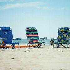 Tommy Bahama Backpack Beach Folding Chair Blue stripes Flower, Pineapple 2020