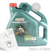 Car Engine Oil Service Kit / Pack 4 LITRES Castrol Magnatec 10w-40 4L