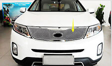 Car Front Mesh Honeycomb Centre Grille Grid Grill Cover Fit For Kia Sorento 2014