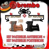 BRPADS-48886 KIT PASTIGLIE FRENO BREMBO PIAGGIO SUPERHEXAGON 2001- 180CC [XS+ORG