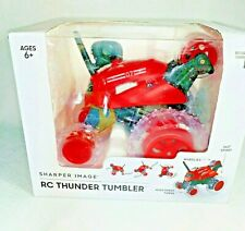 New Sharper Image Thunder Tumbler RC 360 Degree Spinning Car Red WITH BATTERIES