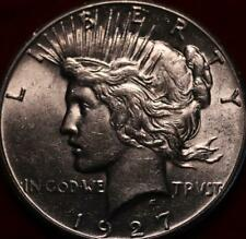 Uncirculated 1927 Philadelphia Mint Silver Peace Dollar