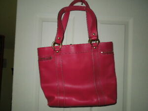 !SALE! Coach Dark Pink Leather Large Tote F12888