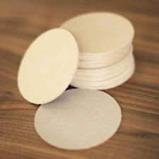 20 Plain Leather Coasters Vegetable Tanned thick round Cowhide Crafts 3.5 circle