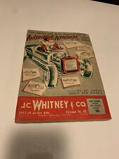 Vintage J.C. WHITNEY 1959 Catalog #152 AUTOMOTIVE PARTS 1950's Christmas Hot Rod