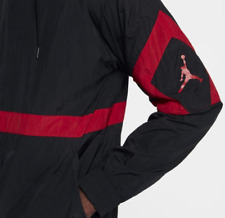 NWT Mens Jordan Black Red Diamond Windbreaker Track Jacket X-Large XL AQ2683-010
