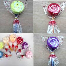 Lollipop Candy Towel Washcloth Wedding Favor Baby Shower Gift Dessert Wrap  OZ
