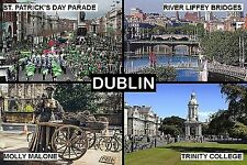 SOUVENIR FRIDGE MAGNET of DUBLIN IRELAND