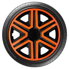 "4x Wheel Covers Hub Caps 16Inch Universal Wheel Trims ABS 16"" Trim [AKTNOrange]"