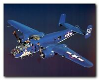 WWII B-25 Mitchell Bomber Military Airplane Aviation Art Print Poster (16x20)