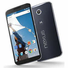 Motorola Nexus 6 64GB Unlocked GSM 4G LTE Phone w/ 13MP Camera - Midnight Blue