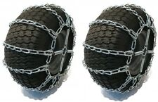2 Link TIRE CHAINS & TENSIONERS 18x8.5x8 for John Deere Lawn Mower Tractor Rider