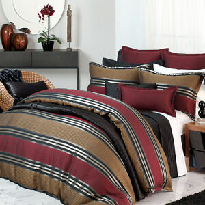 Barcelona Ruby Duvet Doona Quilt Cover Set | Private Collection | Super King