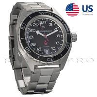 Vostok Komandirskie Wrist Watch 650541 Automatic Russian Military 24 Hours New
