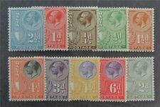 nystamps British Malta Stamp # 131-140 Mint OG H $40