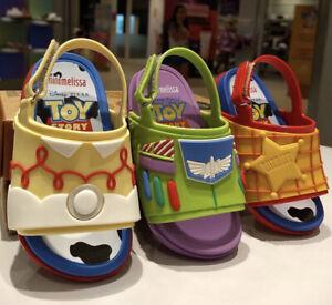 NWT MINI MELISSA Beach Slide Toy Story Disney Woody Jessie Buzz Sandals 32782